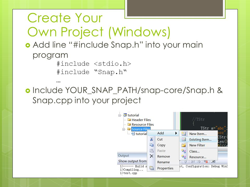 Create Your Own Project (Windows)