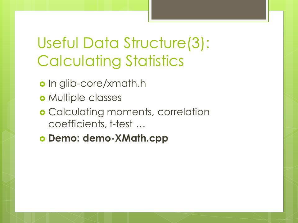Useful Data Structure(3): Calculating Statistics