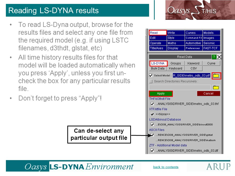 Reading LS-DYNA results