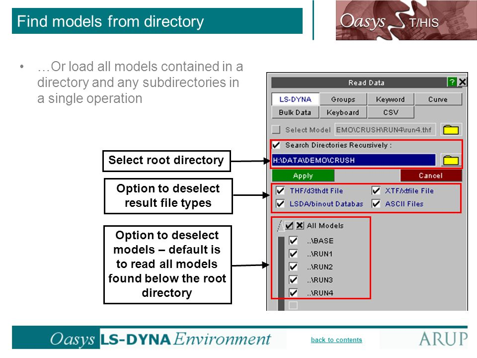 Find models from directory