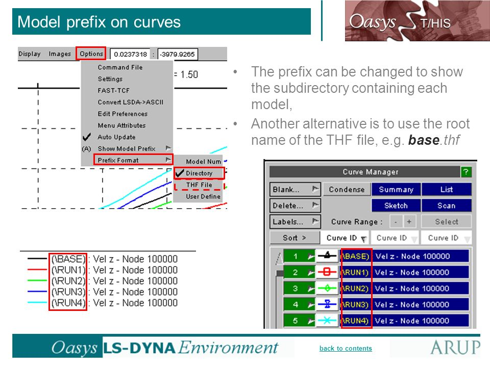 Model prefix on curves The prefix can be changed to show the subdirectory containing each model,