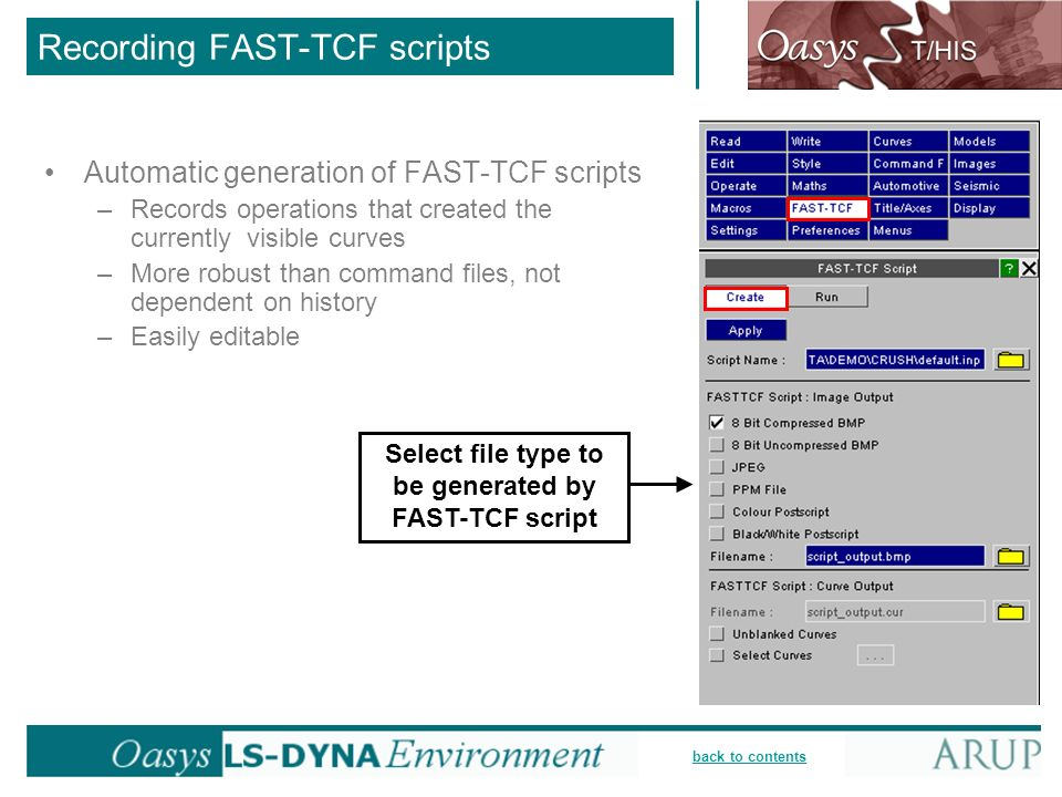 Recording FAST-TCF scripts