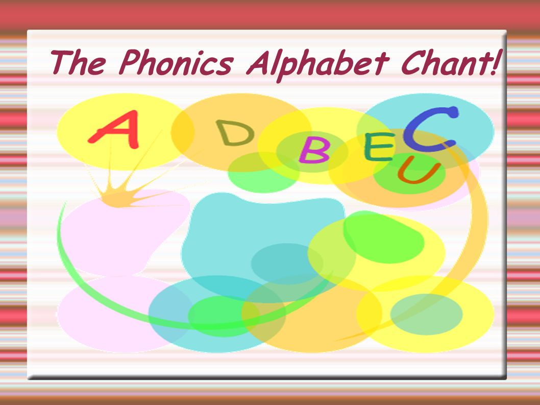 The Phonics Alphabet Chant!