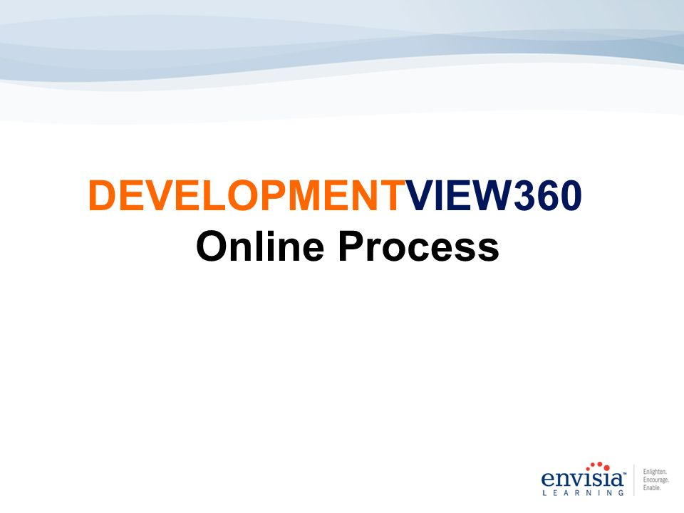 DEVELOPMENTVIEW360 Online Process