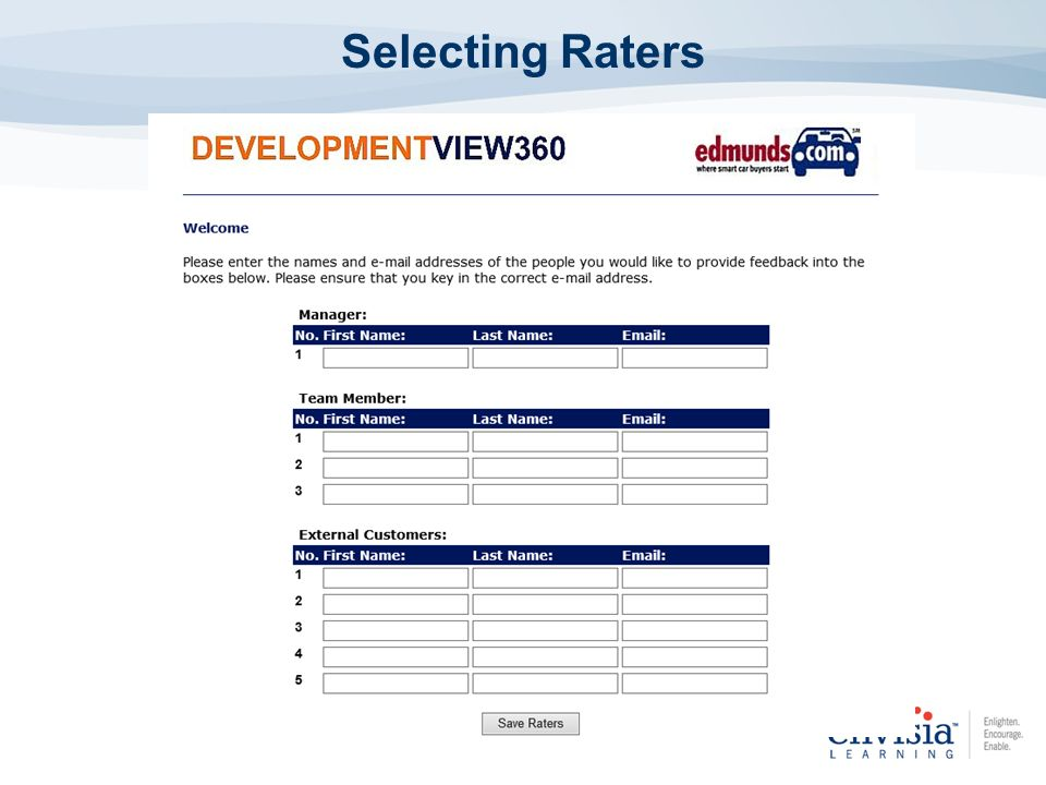 Selecting Raters