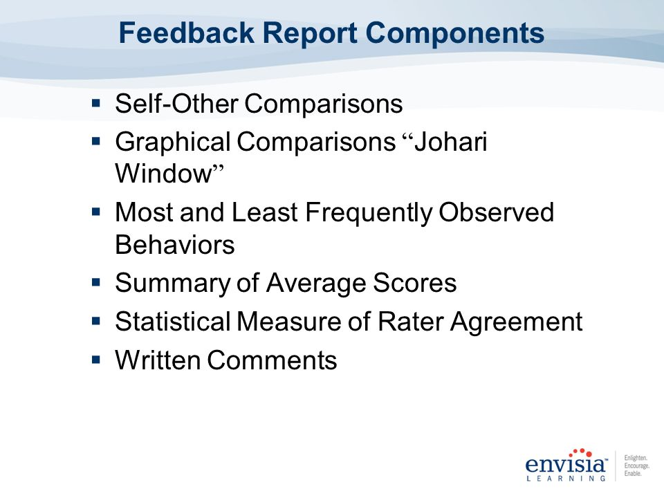 Feedback Report Components