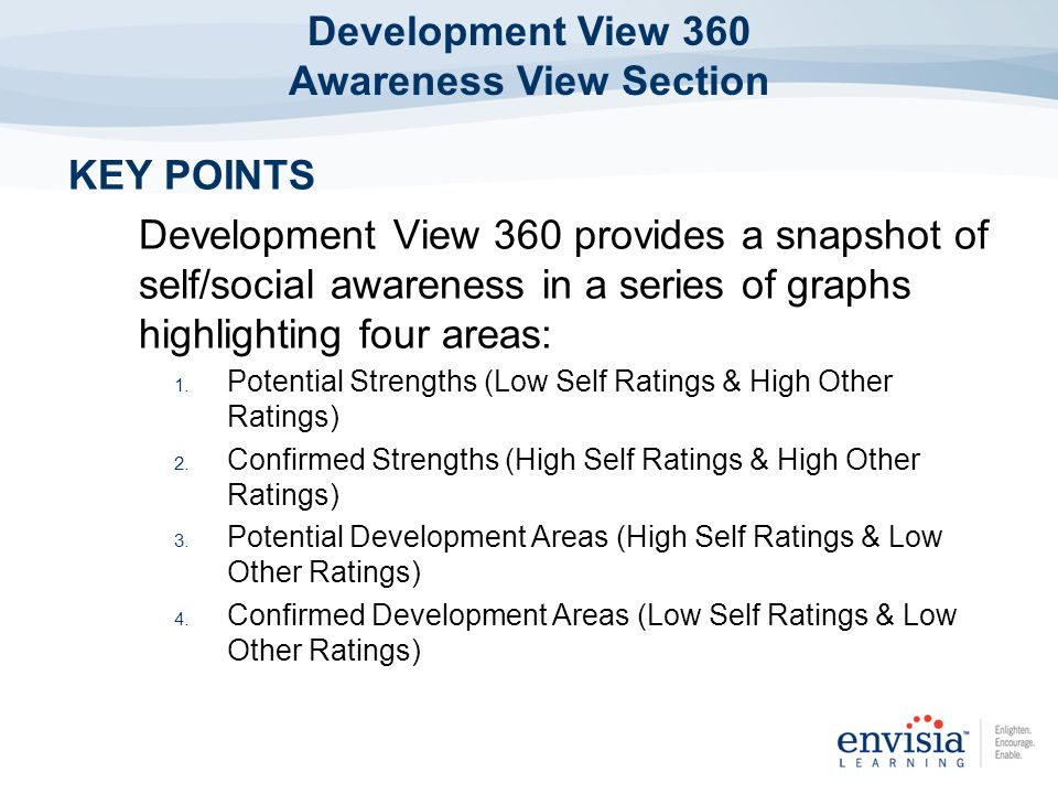Development View 360 Awareness View Section