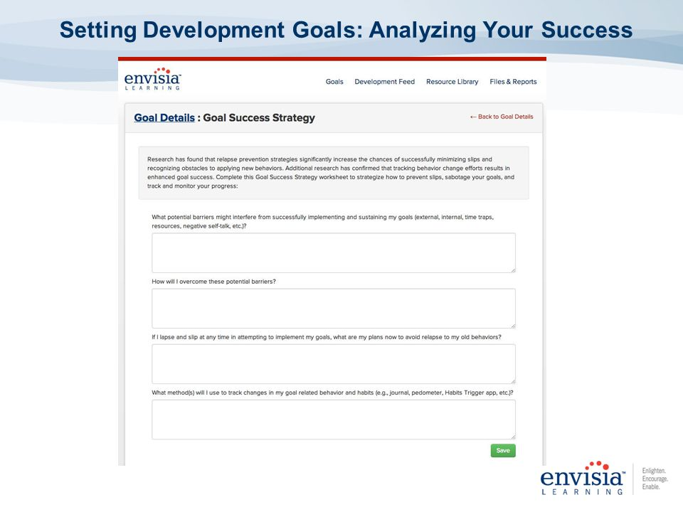 Setting Development Goals: Analyzing Your Success