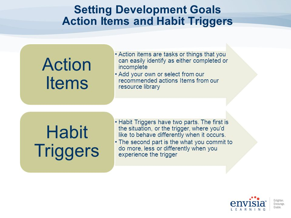 Setting Development Goals Action Items and Habit Triggers