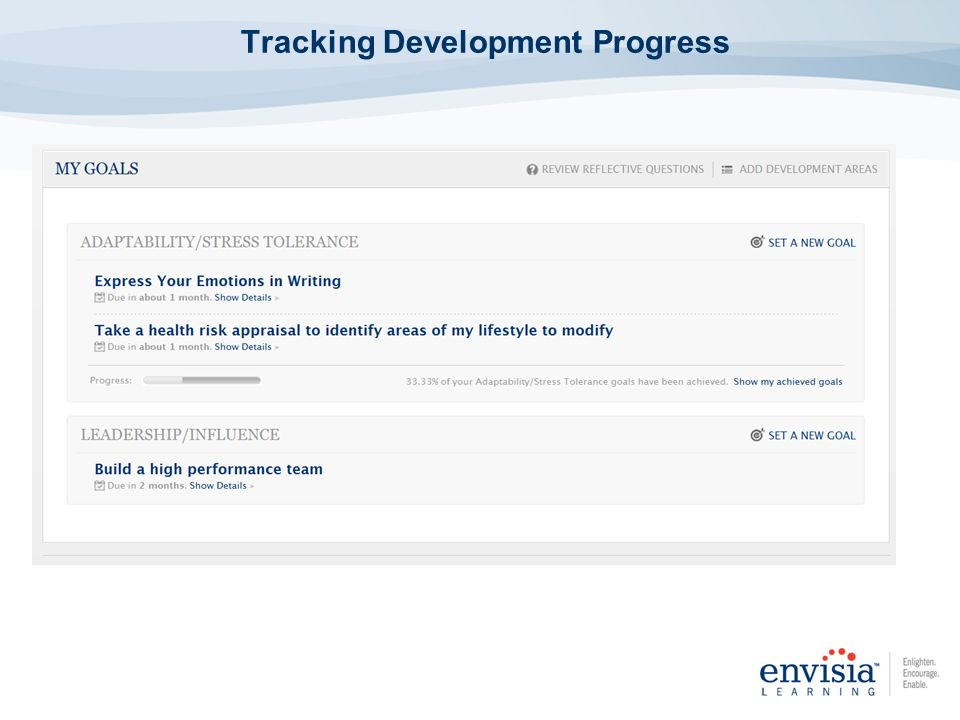 Tracking Development Progress