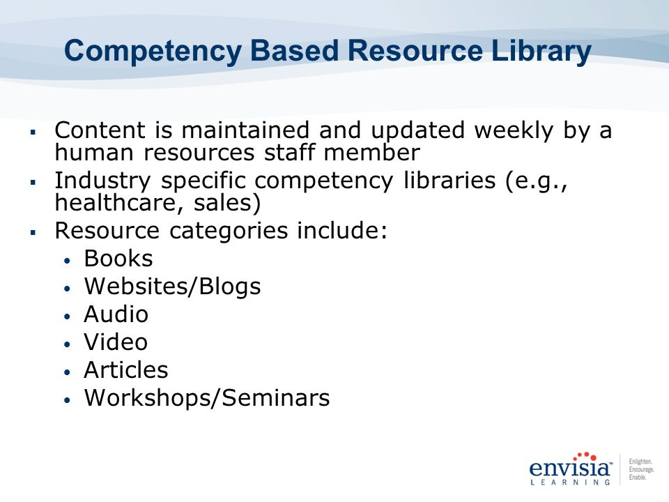 Competency Based Resource Library