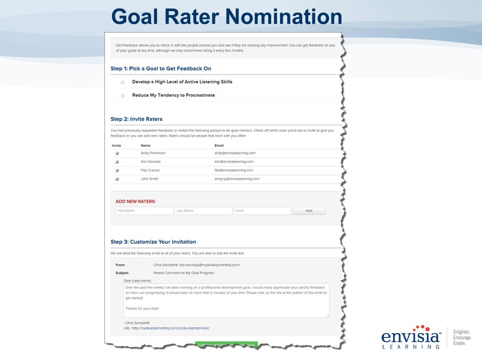 Goal Rater Nomination