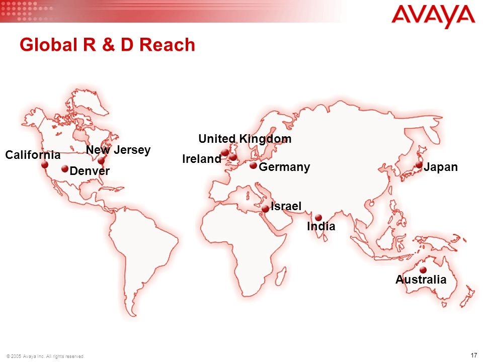 Global R & D Reach United Kingdom New Jersey California Ireland