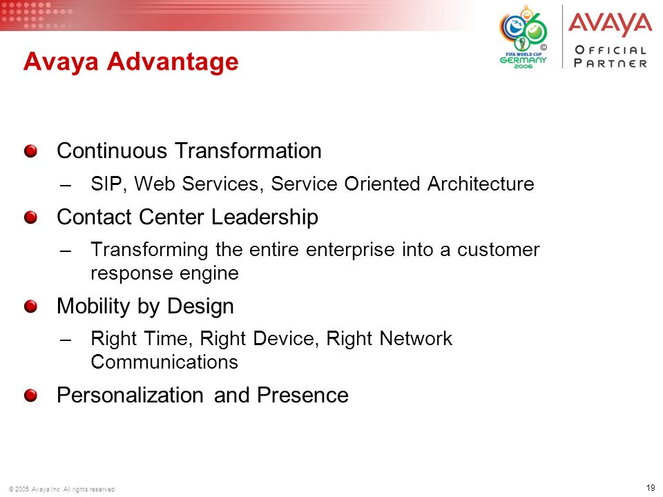 Avaya Advantage Continuous Transformation Contact Center Leadership