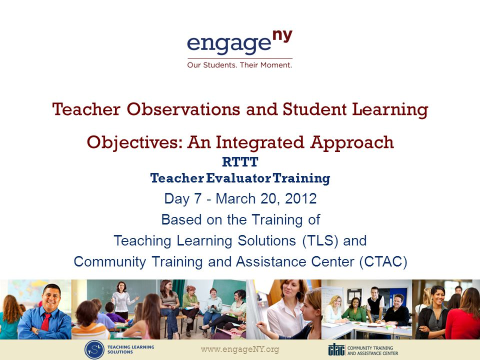 RTTT Teacher Evaluator Training