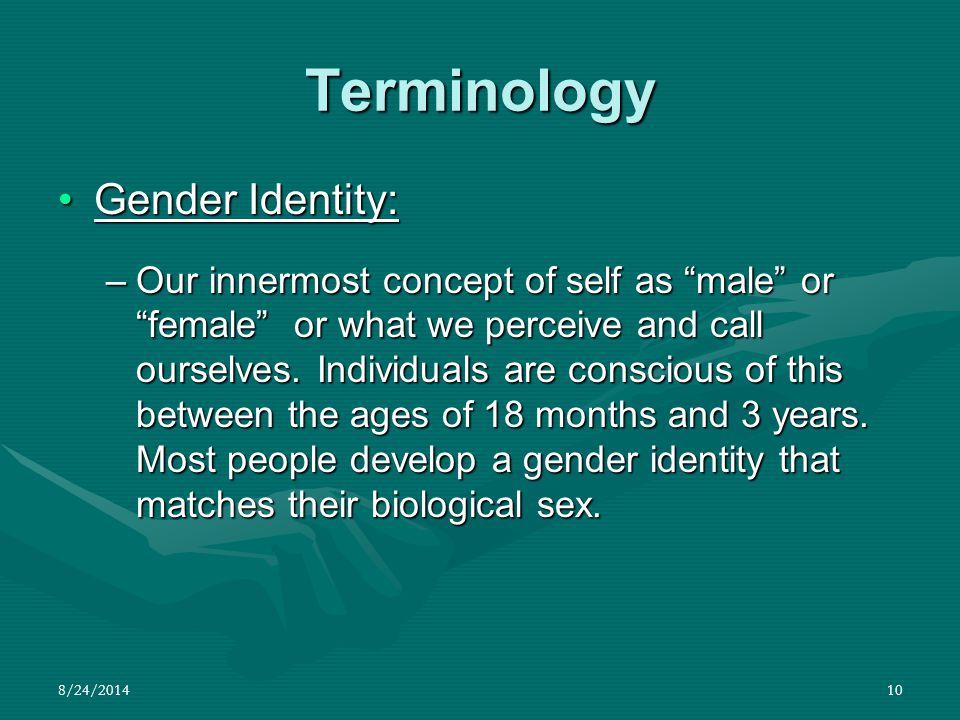 Terminology Gender Identity:
