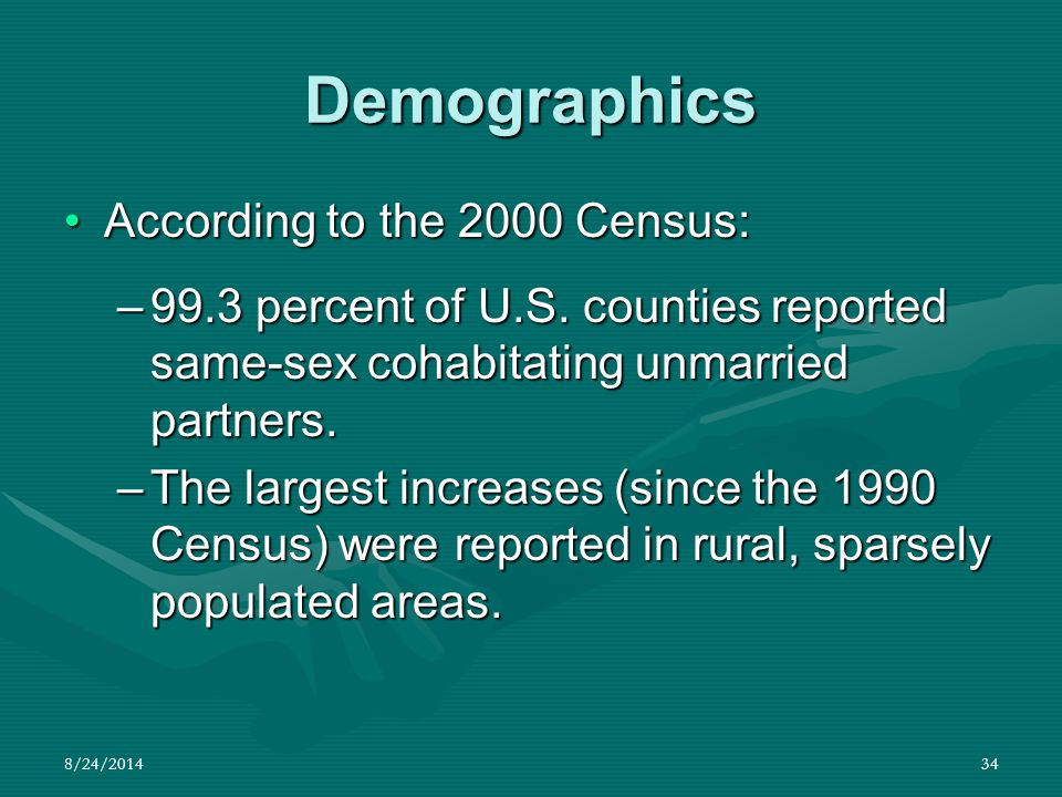 Demographics According to the 2000 Census: