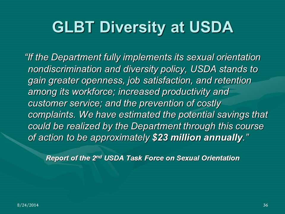 Report of the 2nd USDA Task Force on Sexual Orientation