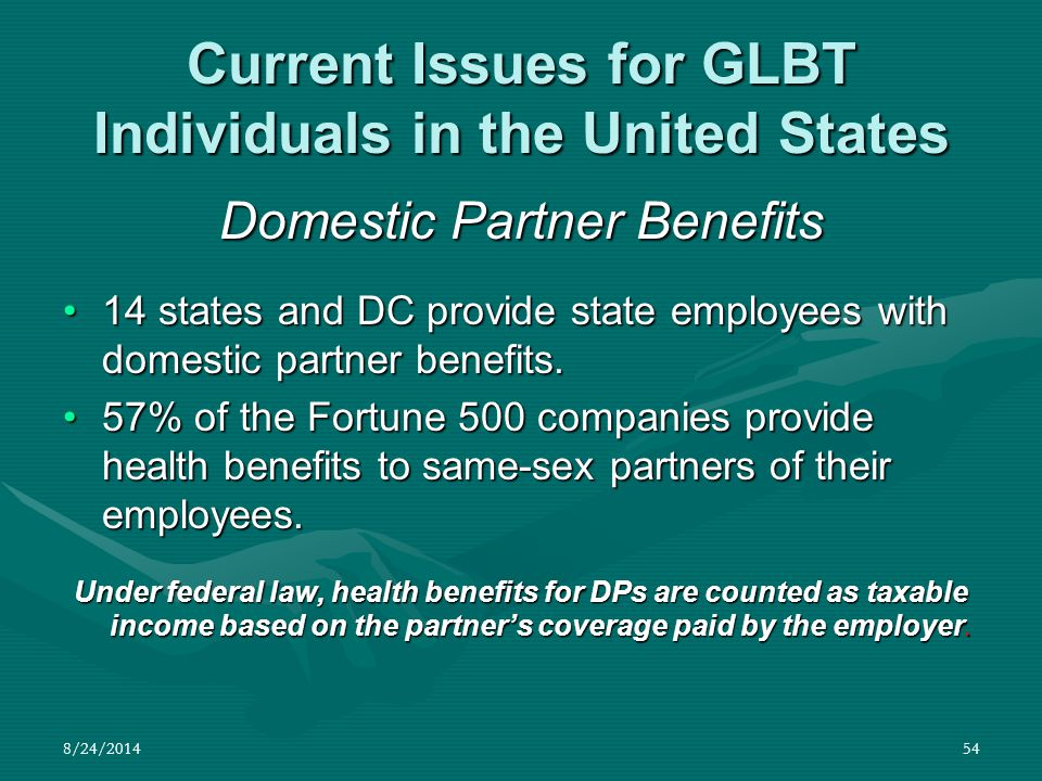 Current Issues for GLBT Individuals in the United States