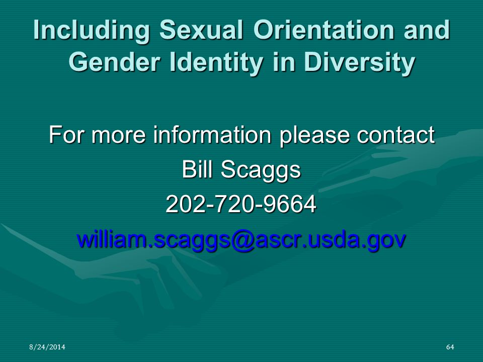 Including Sexual Orientation and Gender Identity in Diversity