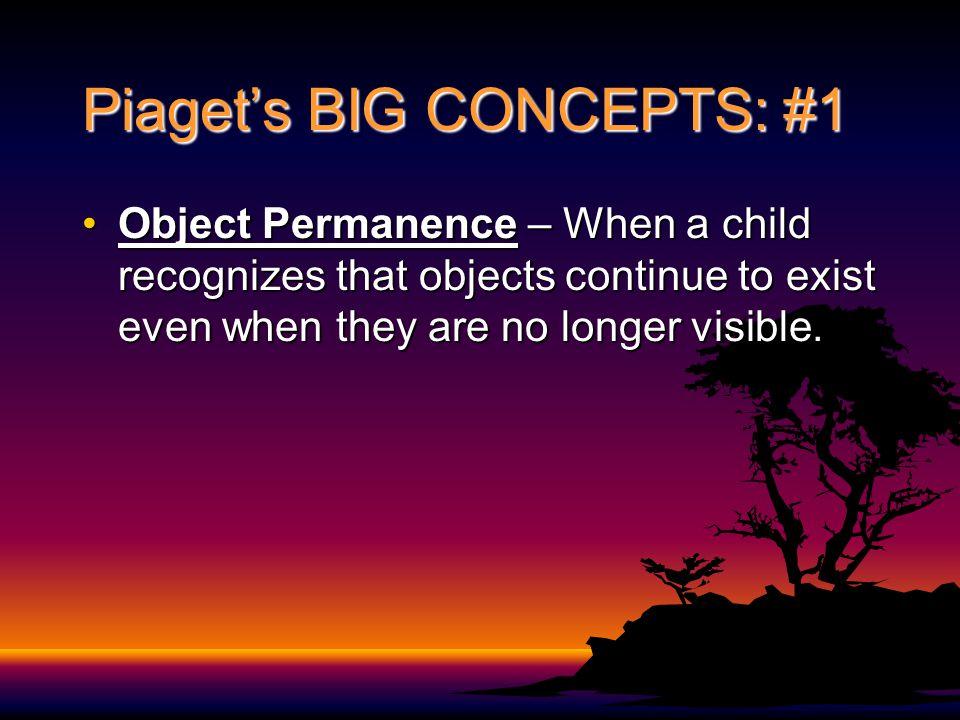 Piaget's BIG CONCEPTS: #1