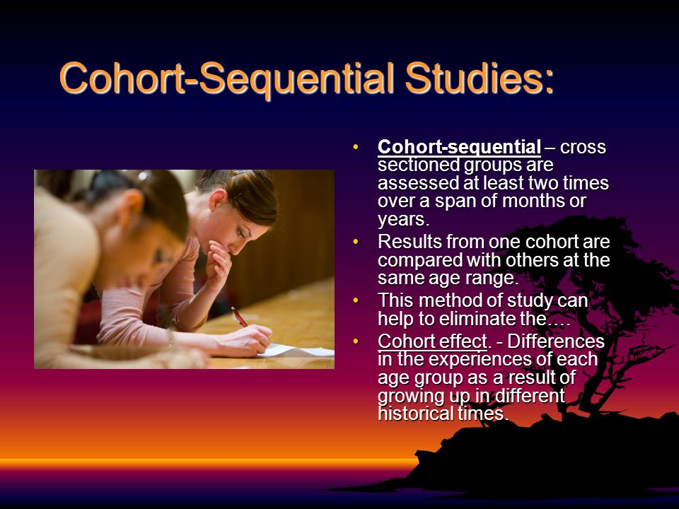 Cohort-Sequential Studies: