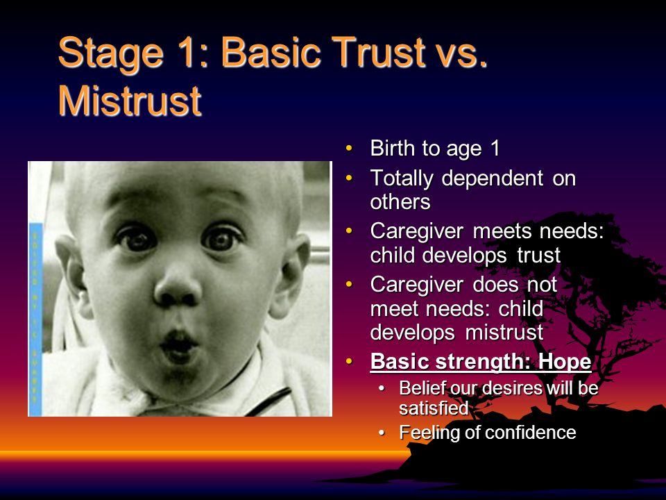 Stage 1: Basic Trust vs. Mistrust