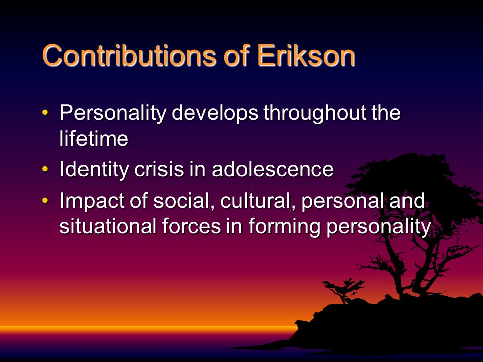 Contributions of Erikson