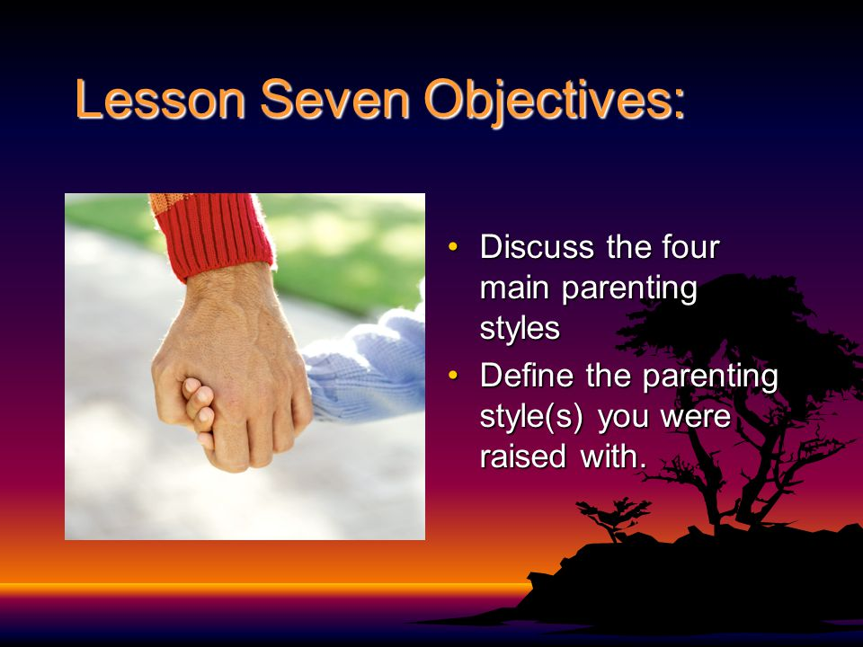 Lesson Seven Objectives: