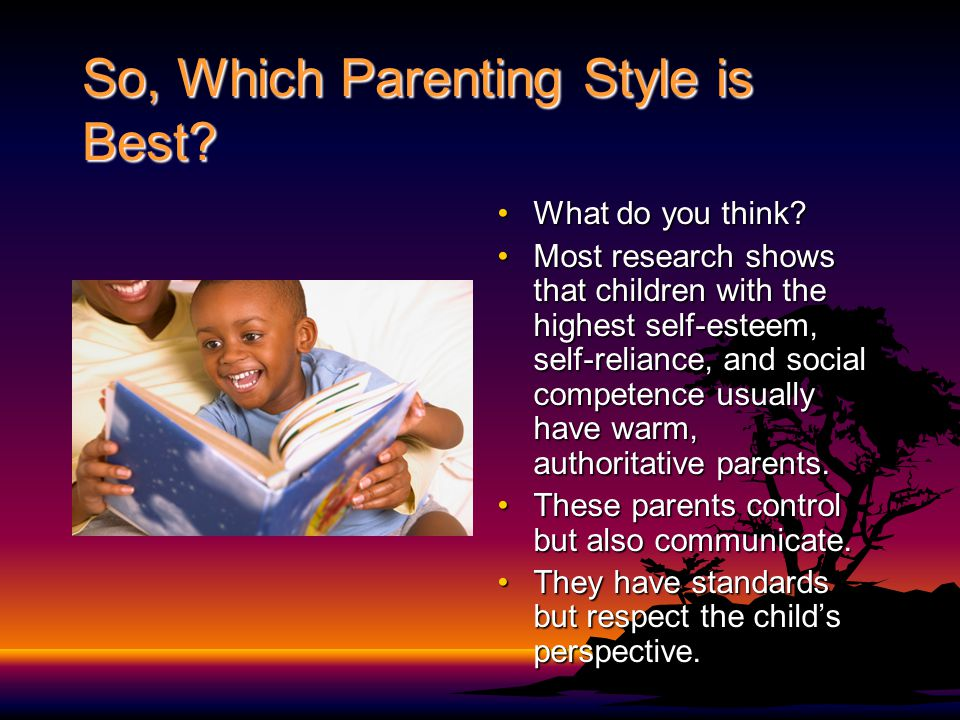 So, Which Parenting Style is Best