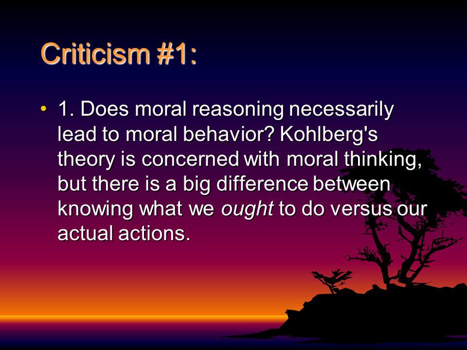 Criticism #1: