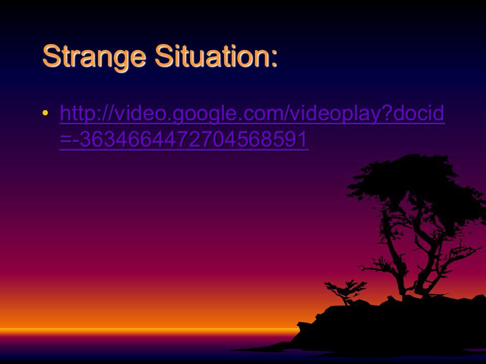 Strange Situation: http://video.google.com/videoplay docid=-3634664472704568591