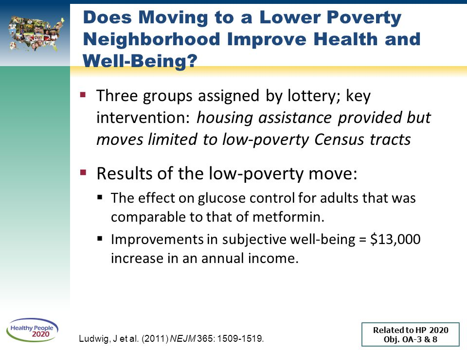 Results of the low-poverty move: