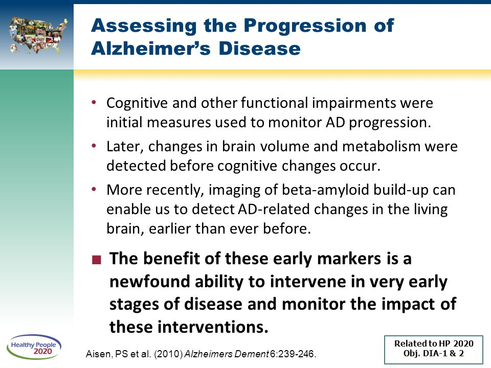 Assessing the Progression of Alzheimer's Disease