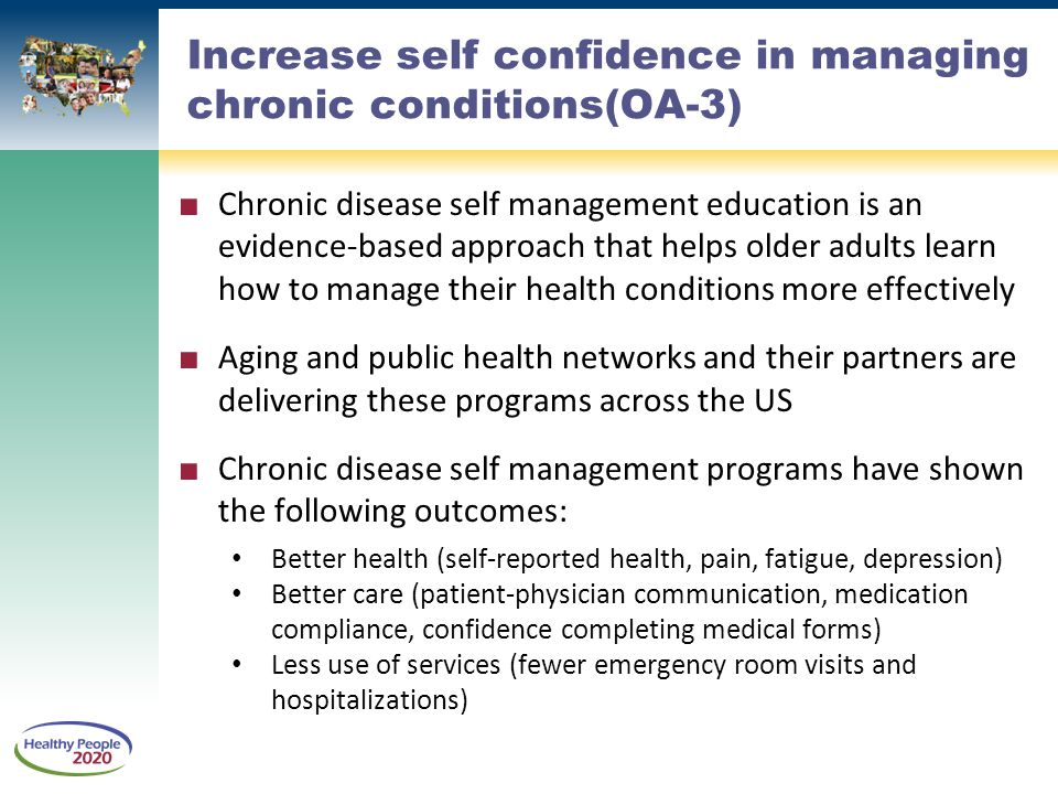 Increase self confidence in managing chronic conditions(OA-3)