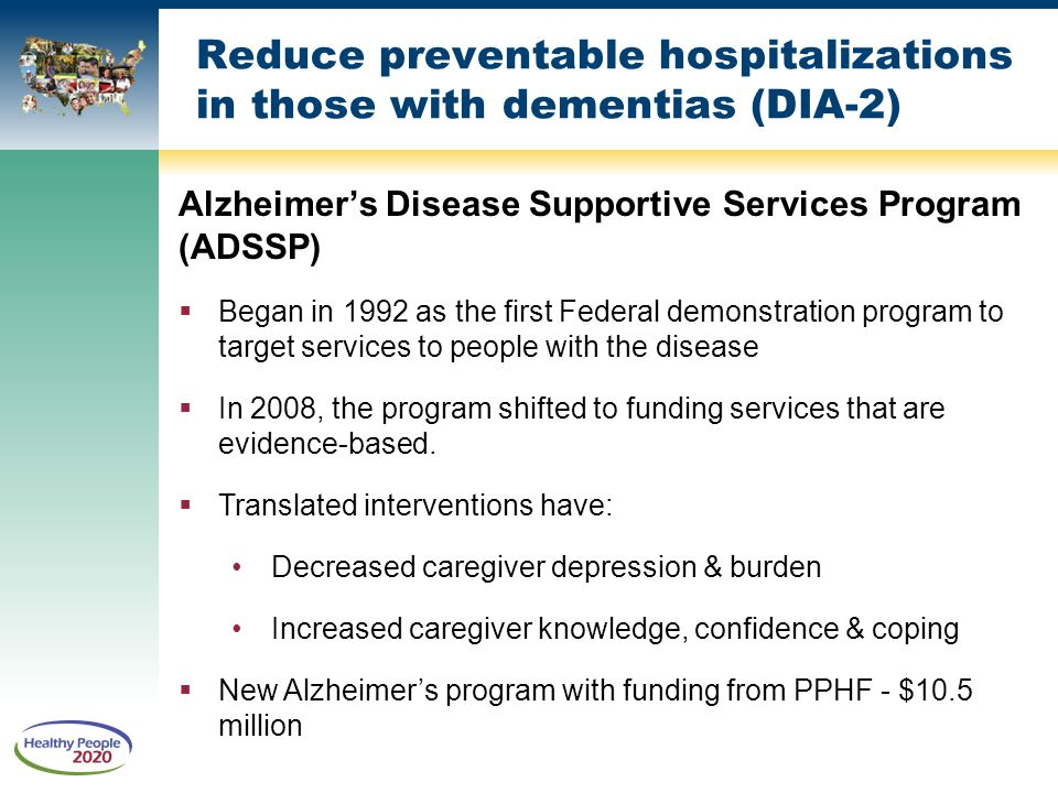 Reduce preventable hospitalizations in those with dementias (DIA-2)