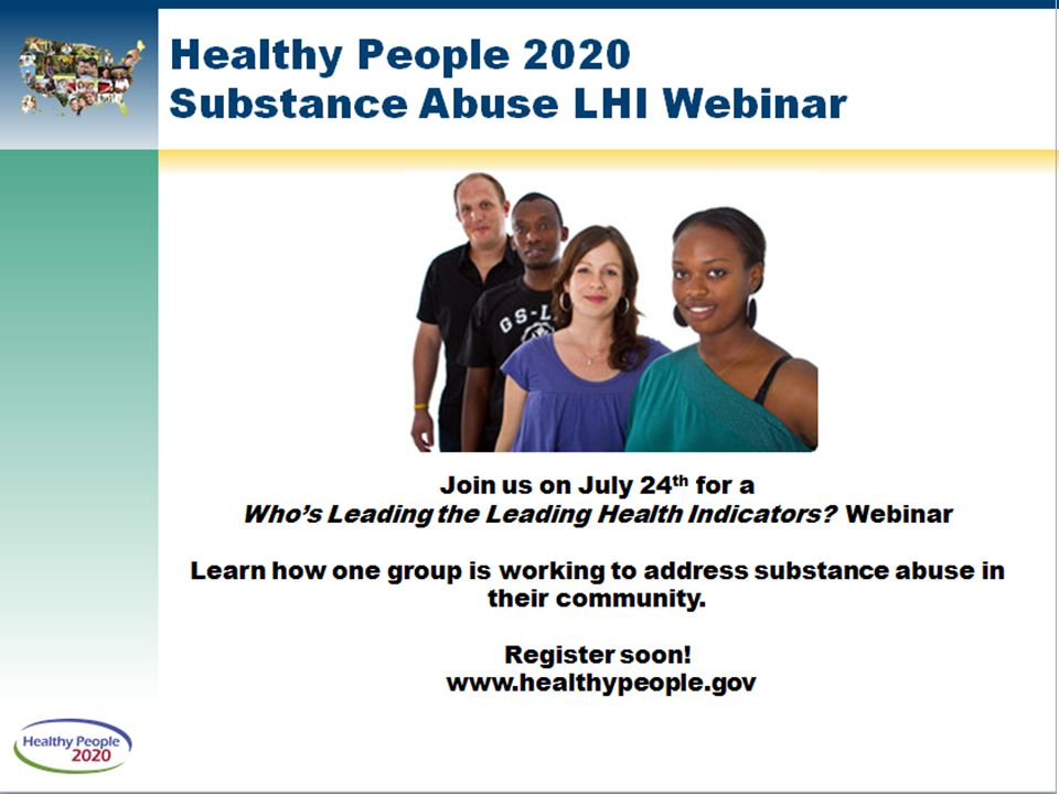 Healthy People 2020 Substance Abuse LHI Webinar