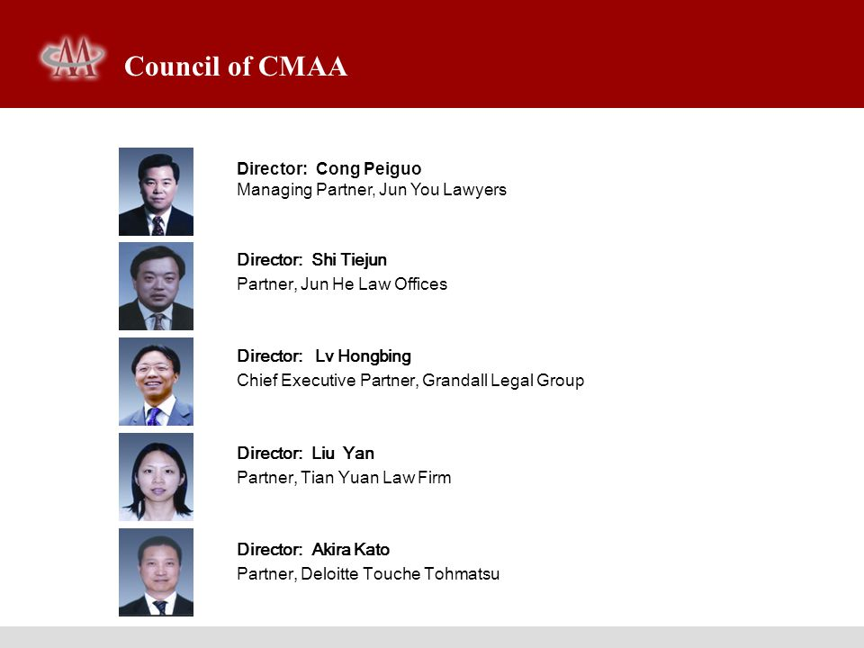 Council of CMAA Director: Cong Peiguo