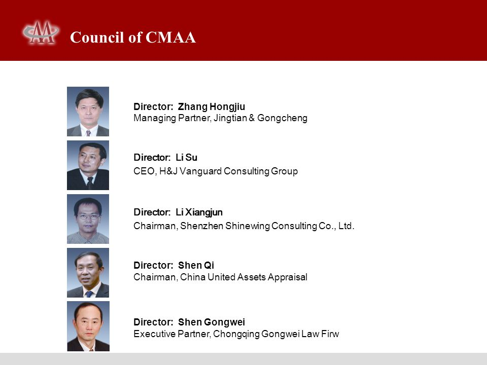 Council of CMAA Director: Zhang Hongjiu