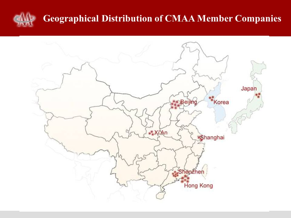Geographical Distribution of CMAA Member Companies