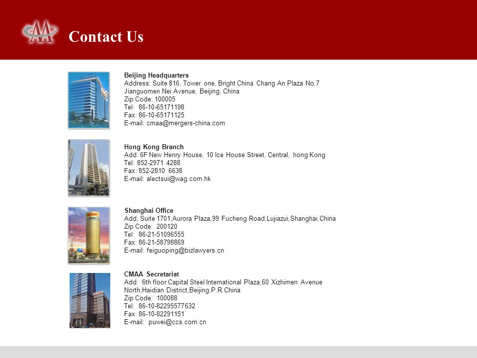 Contact Us Beijing Headquarters