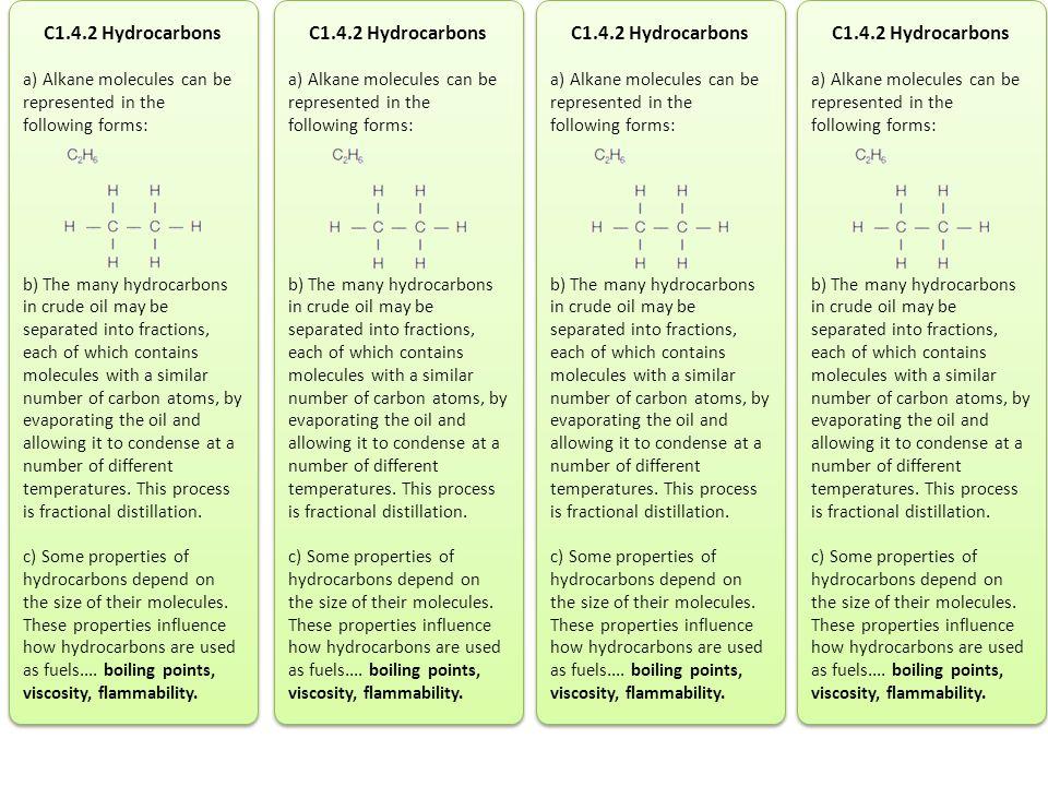 C1.4.2 Hydrocarbons C1.4.2 Hydrocarbons C1.4.2 Hydrocarbons