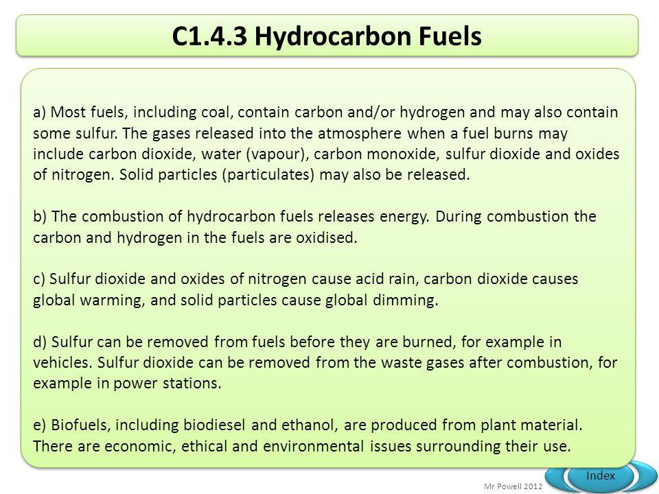 C1.4.3 Hydrocarbon Fuels