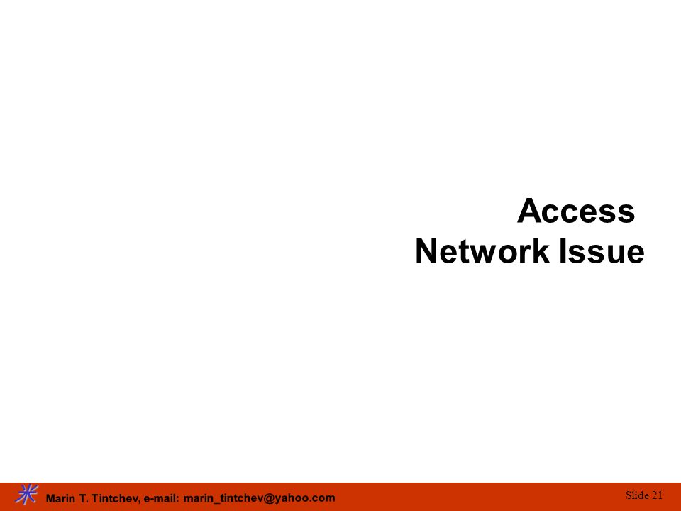 Access Network Issue