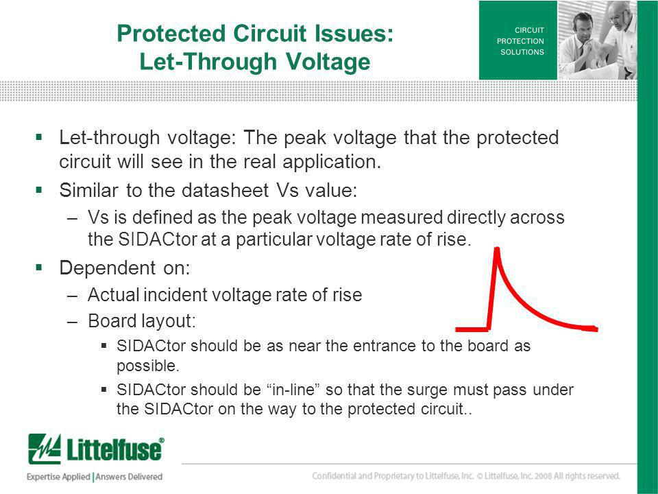 Protected Circuit Issues: Let-Through Voltage