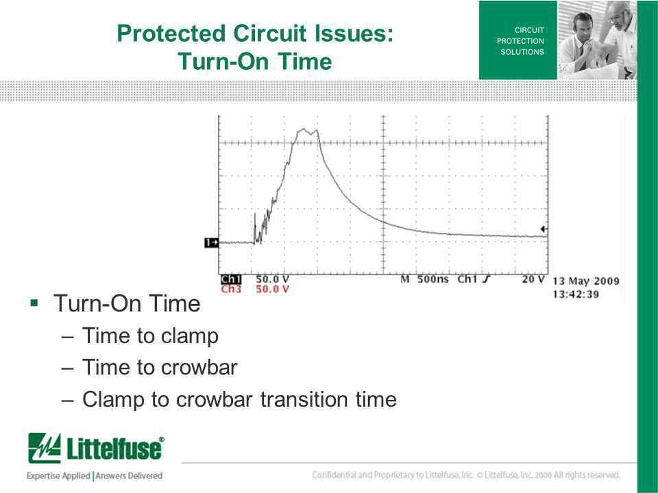 Protected Circuit Issues: Turn-On Time