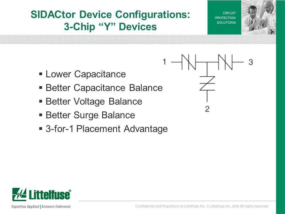 SIDACtor Device Configurations: 3-Chip Y Devices