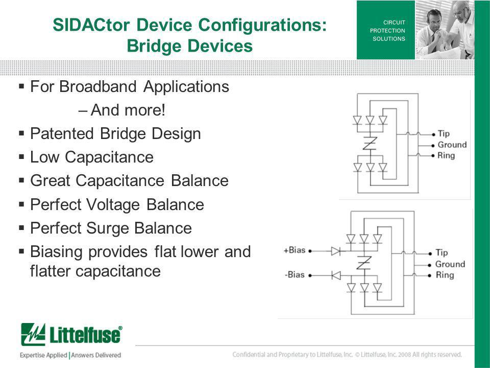 SIDACtor Device Configurations: Bridge Devices