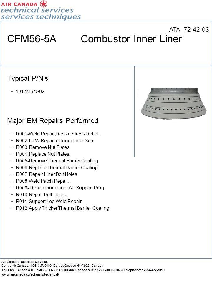 CFM56-5A Combustor Inner Liner
