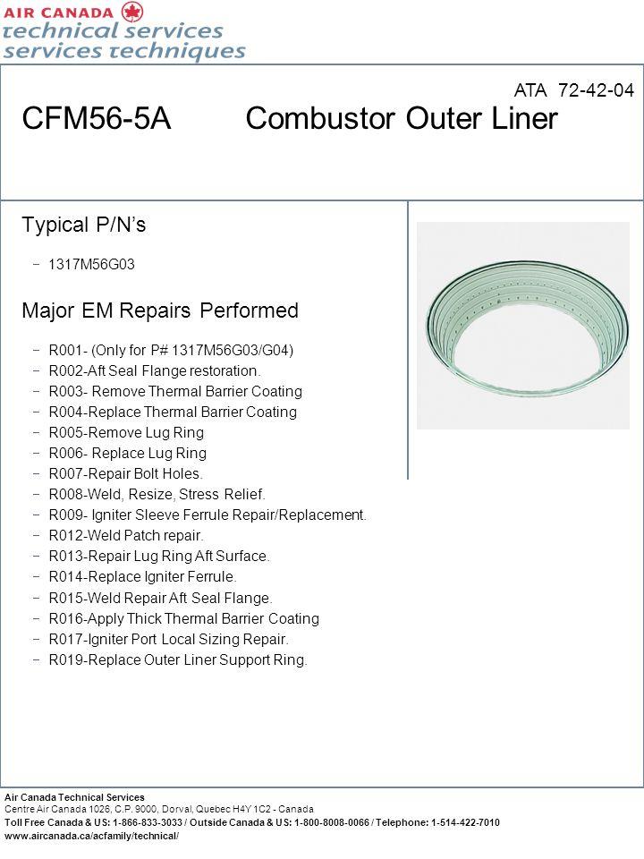 CFM56-5A Combustor Outer Liner